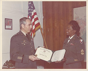 Army Command Sergeant Major Mildred C. Kelly